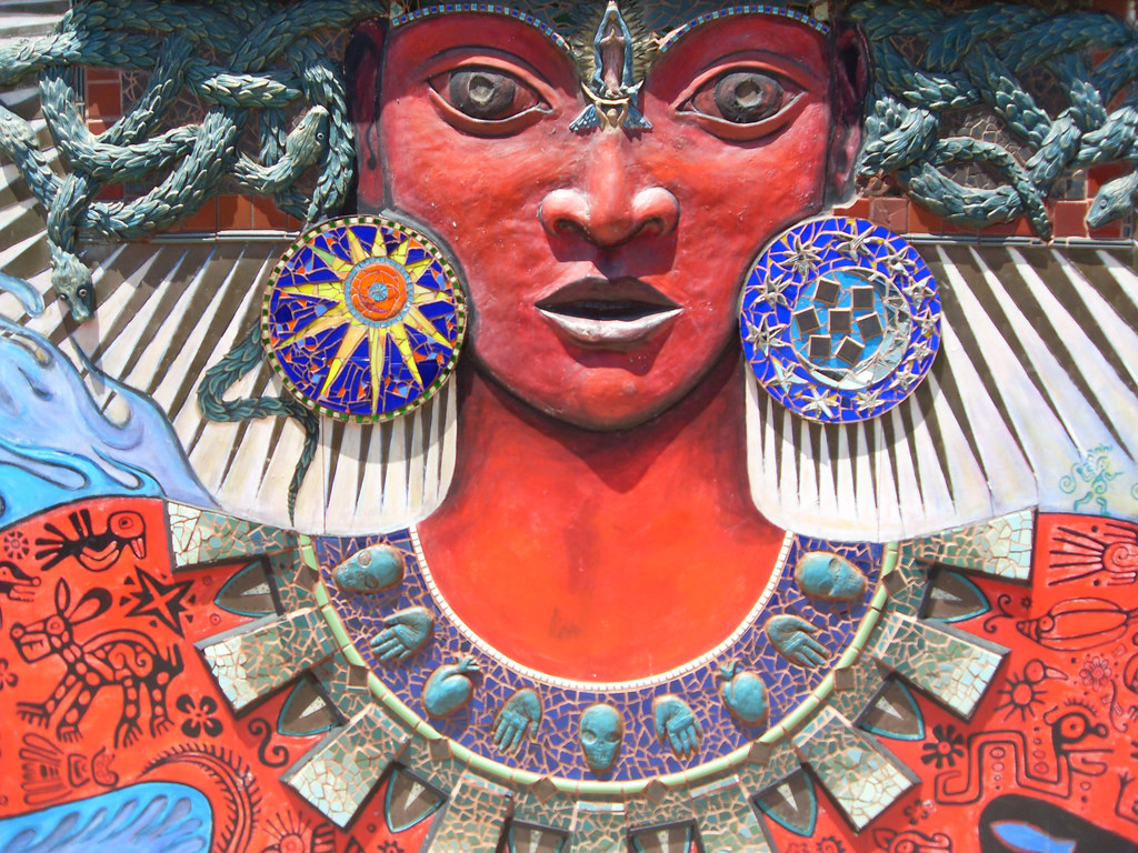 Itzpapalotl Goddess Mural in San Francisco