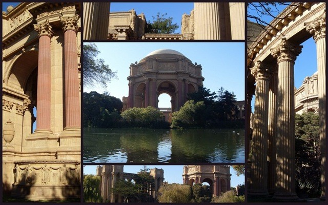 Collage of Palace of Fine Arts in San Francisco