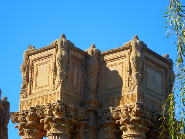 Females that adorn the Palace of Fine Arts in San Francisco
