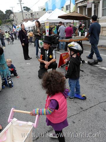 Little girl at farmers market