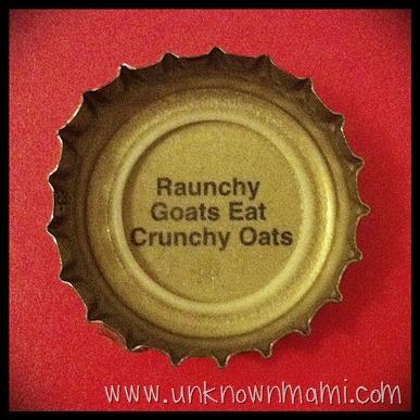 Beer Bottle Cap Saying