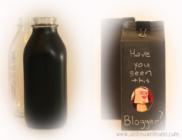 Chalkboard-painted-milk-containers