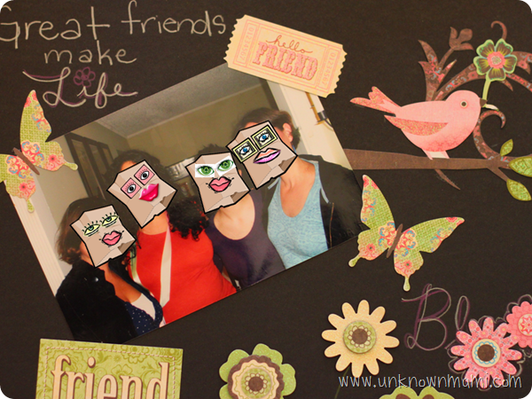 Scrapbook page for bride to be