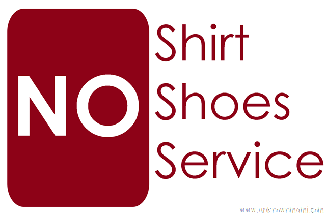 image about No Shoes Sign Printable identified as No-Blouse-No-Footwear-No-Support.png As a result of Claudya
