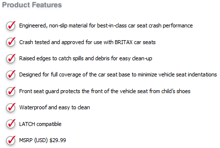 Vehicle Seat Protector Features