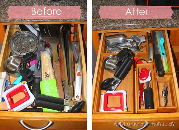 Kitchen drawer organizer