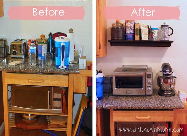 Kitchen update to help declutter.