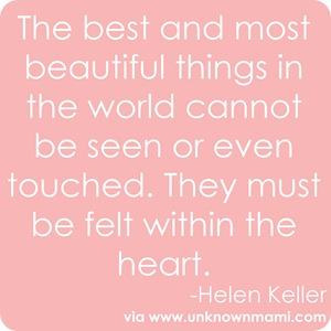 Helen Keller On Beauty