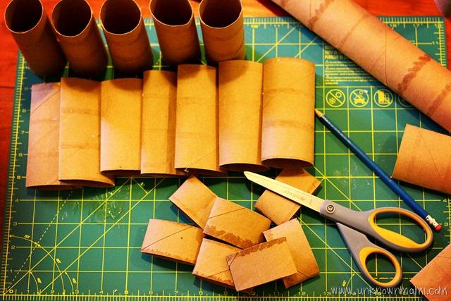 Toilet Paper Roll Craft Diy Wreath Tutorial By Claudya