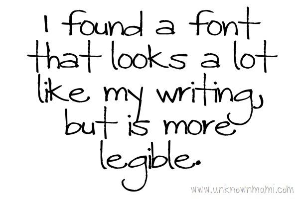 Font that looks like handwriting