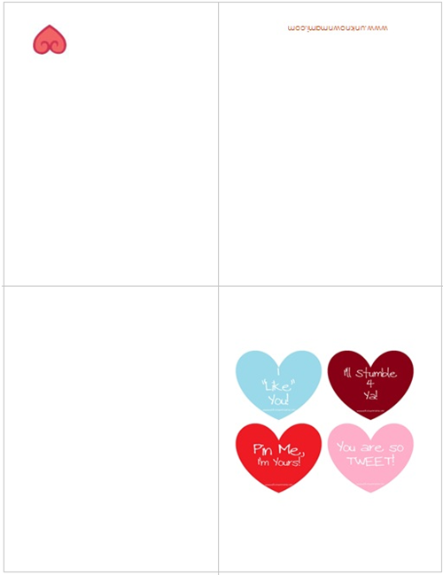 Free Valentines Day Cards Printable By Claudya – Free Valentine Printable Cards