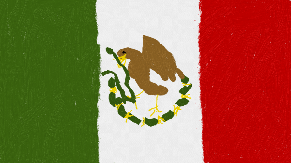 Drawing of Mexican Flag
