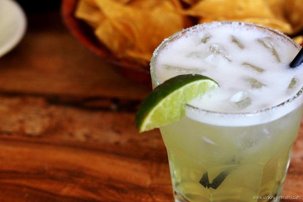 Margarita with salt on rim