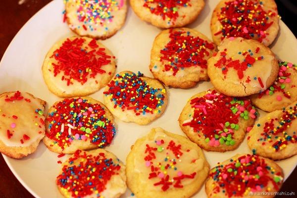 Cookies with sprinkles