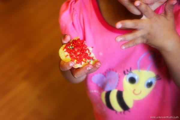 Eating a sugar cookie