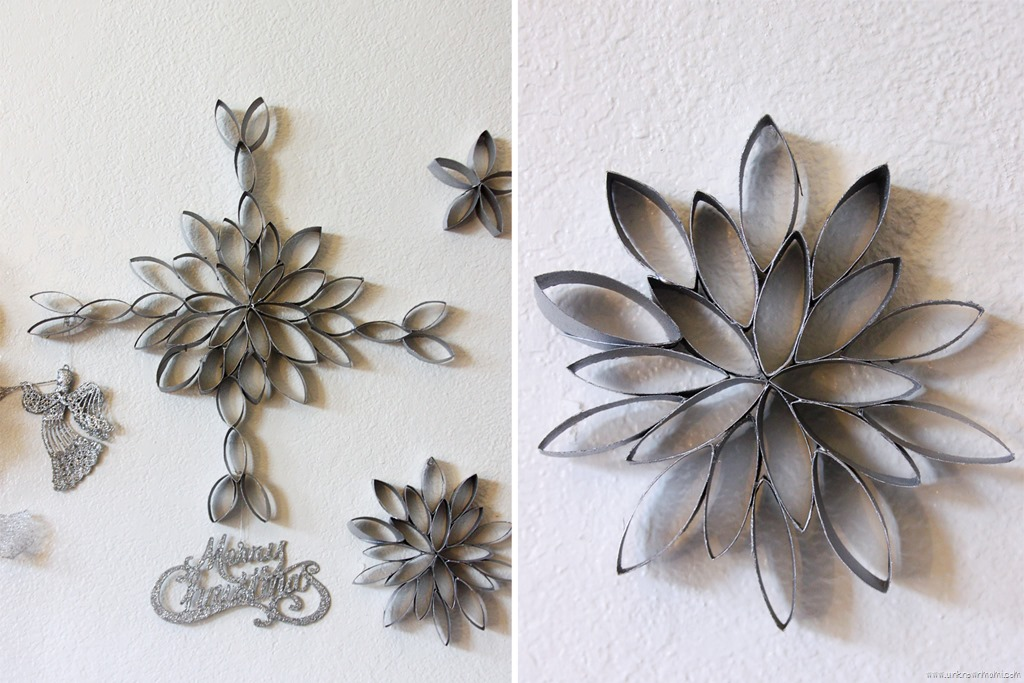 Diy Snowflakes Out Of Toilet Paper Rolls By Claudya