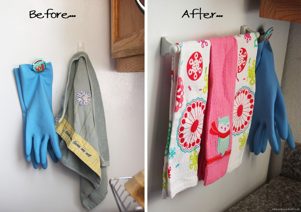 Magnetic Dish Towel Rack
