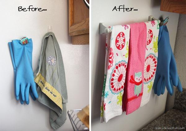 Magnetic dish towel rack