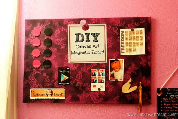 DIY Canvas Art Magnetic Board