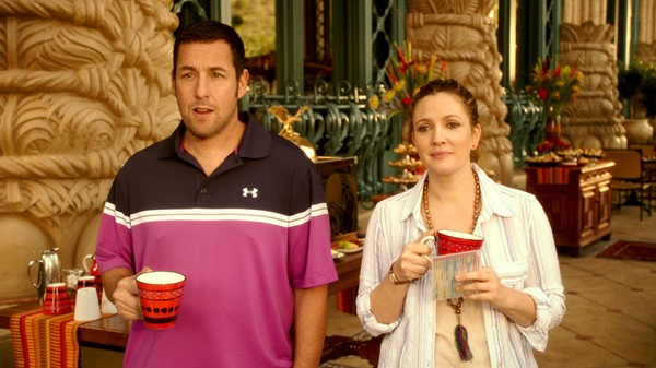 Adam Sandler and Drew Barrymore in Blended
