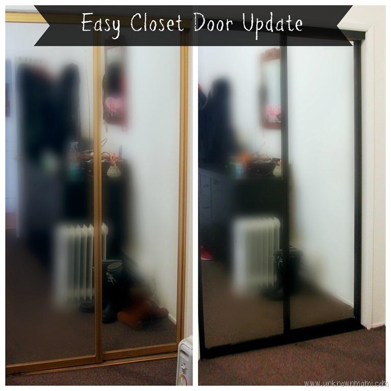 Spray Paint Mirrored Closet Doors