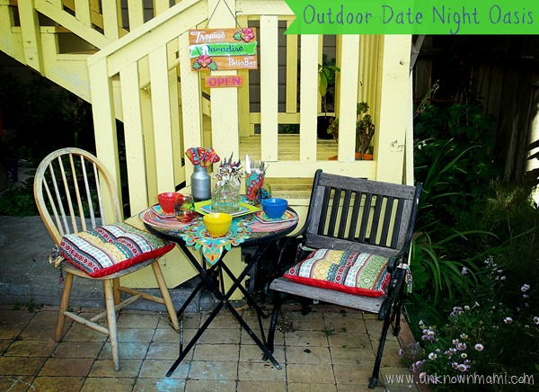 Date night backyard oasis