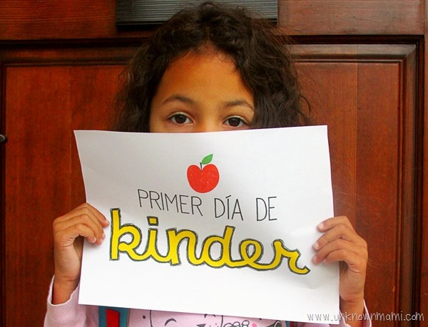 Primer Día de kinder