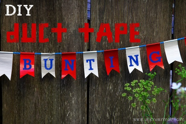 Duct tape bunting