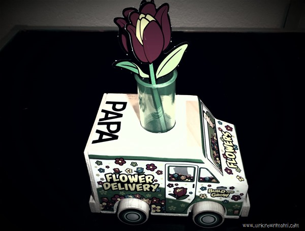 Flower delivery truck