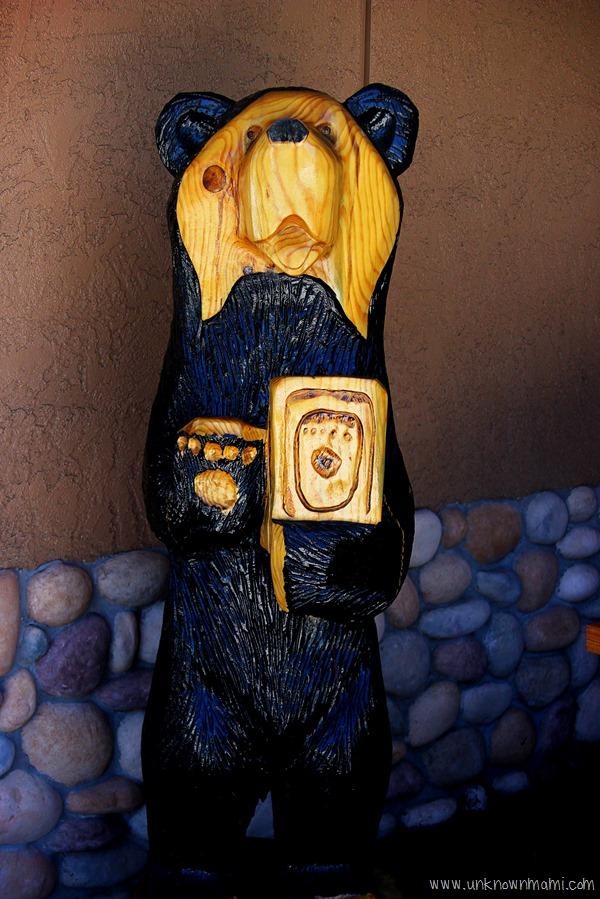Black Bear wooden carving