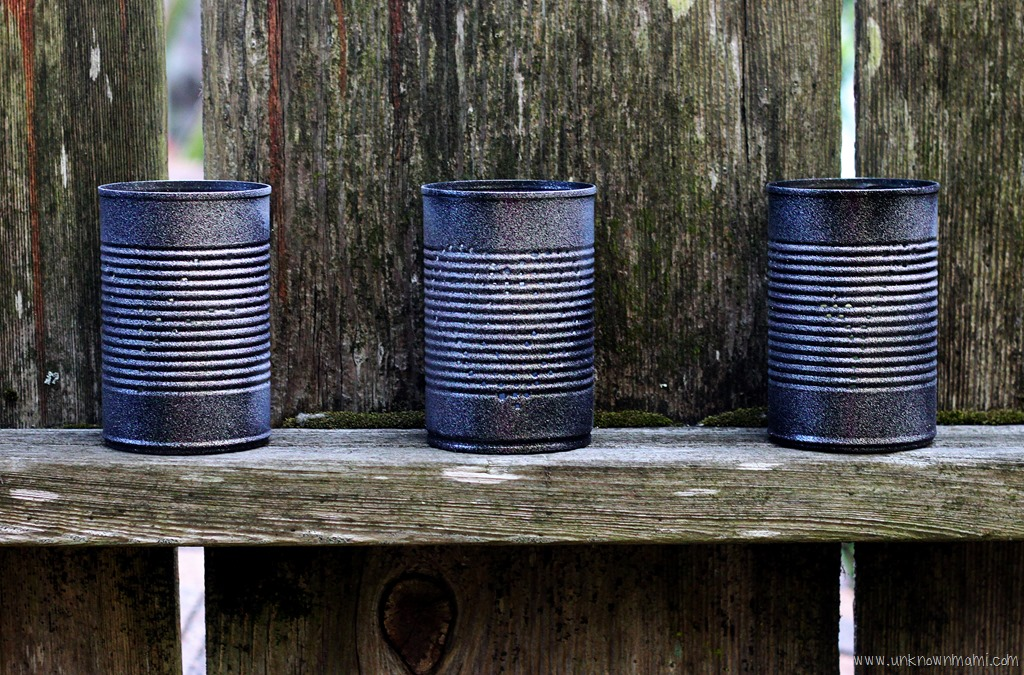 Diy how to make tin can lanterns by claudya for Kitchen cabinets lowes with tin can candle holders