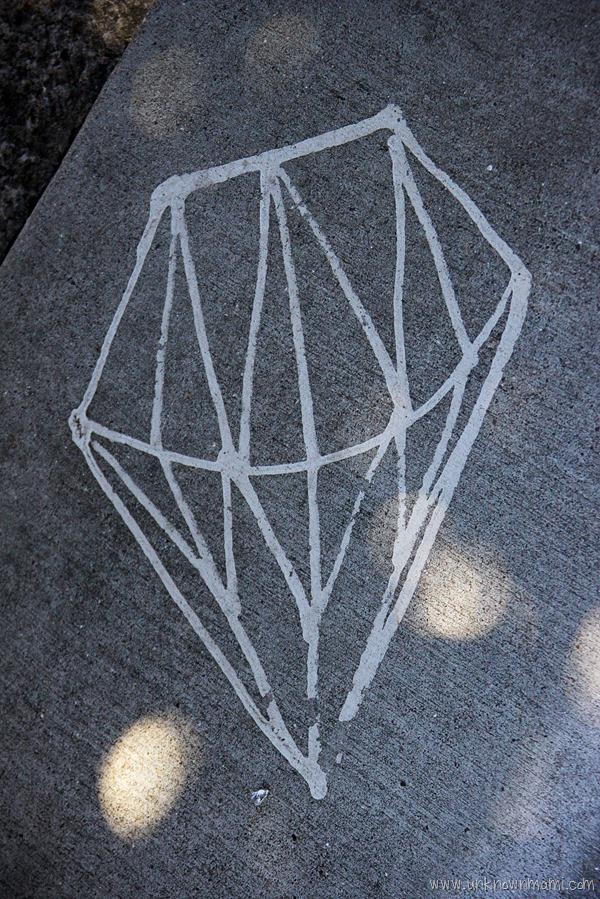Diamond on the sidewalk in San Francisco