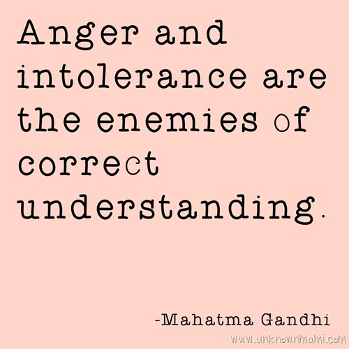 Mahatma Gandhi quote about anger