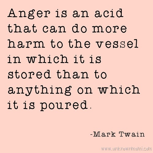 Mark Twain quote about anger