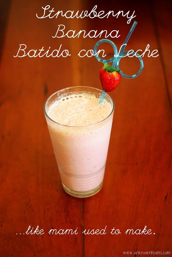 Strawberry-banana smoothie like mom used to make! Easy recipe.