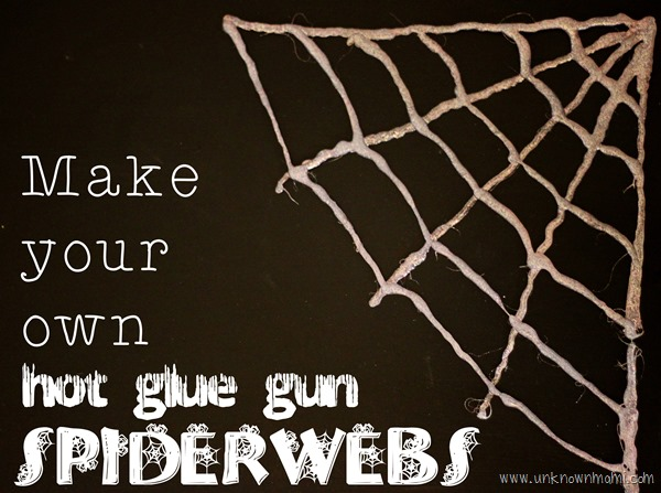Easy to make hot glue gun spiderwebs