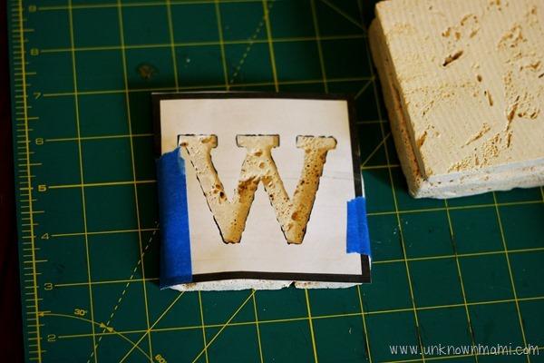 make your own monogram stencil