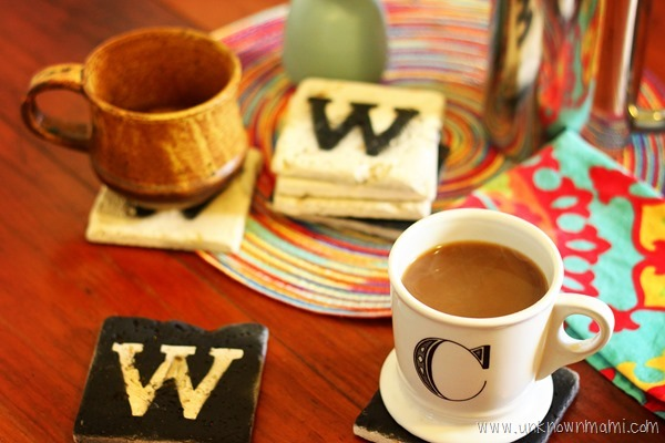 how to make monogrammed coasters