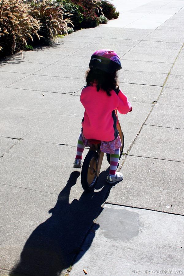 Balance bike rider