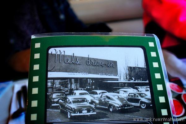 Mel's Drive-in menu