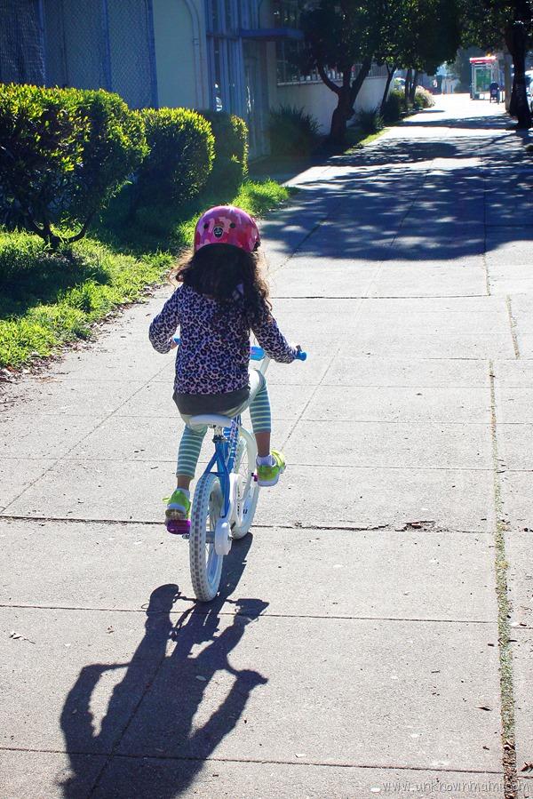 Riding withoug training wheels