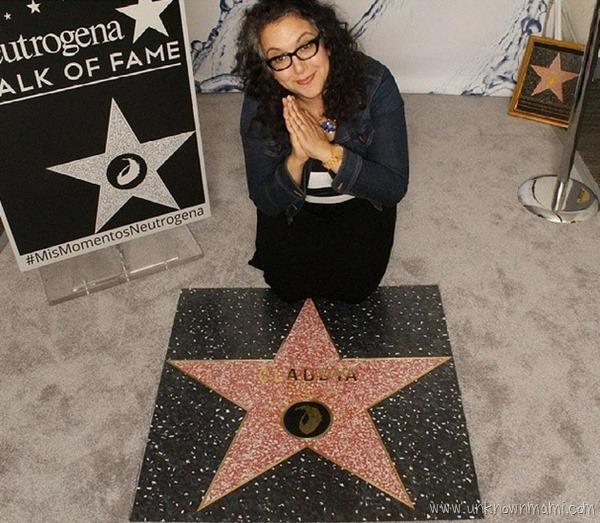 Claudya Martinez getting a Walk of Fame Star