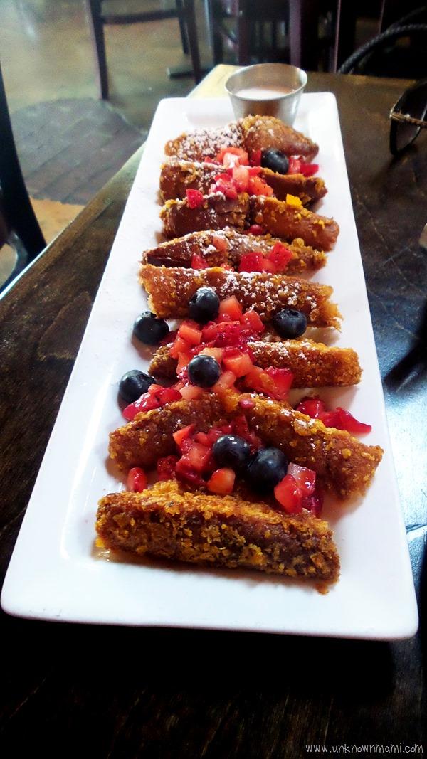 Crunchy French Toast at Blu Jam Cafe