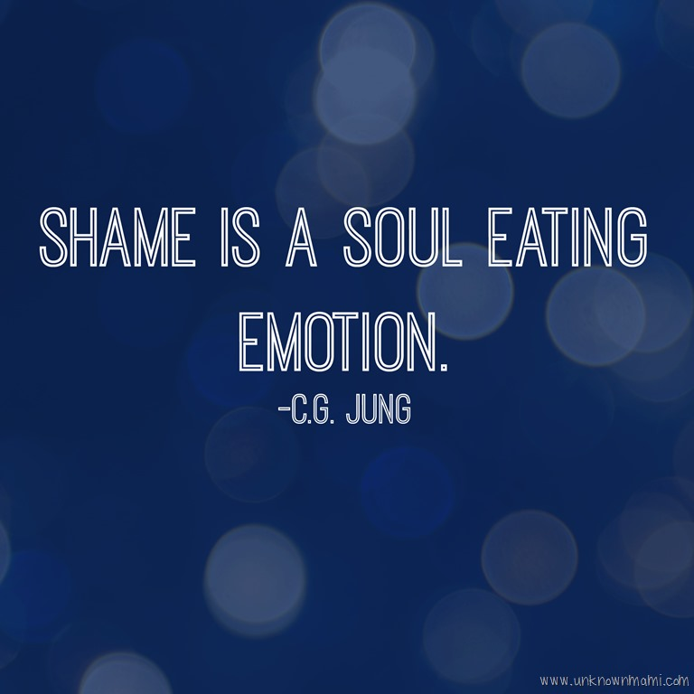 Shame quote by C.G. Yung