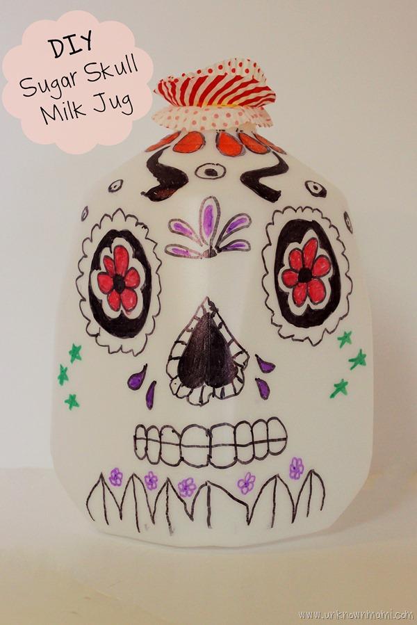 Milk jug sugar skull craft