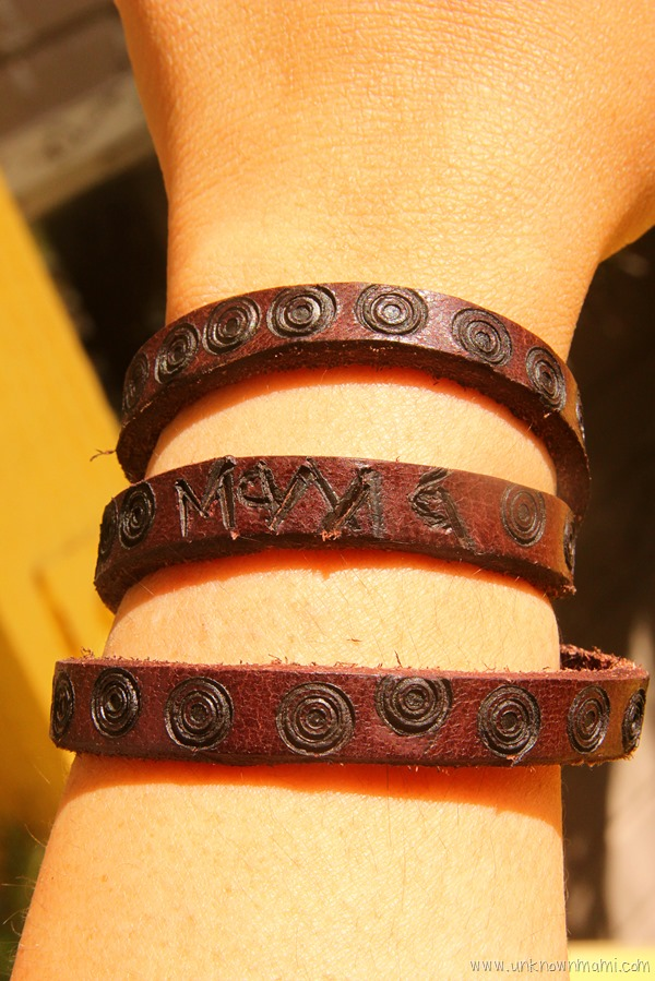 Leather bracelet craft