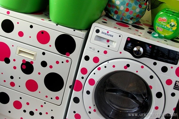 Polka dot washer and dryer #NuevaFormaDeLavar