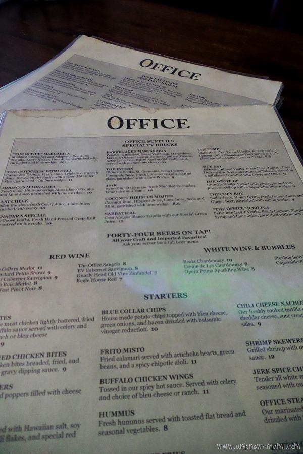The Office menu
