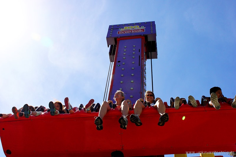 Free Fall Ride at Santa Cruz Beack Boardwalk