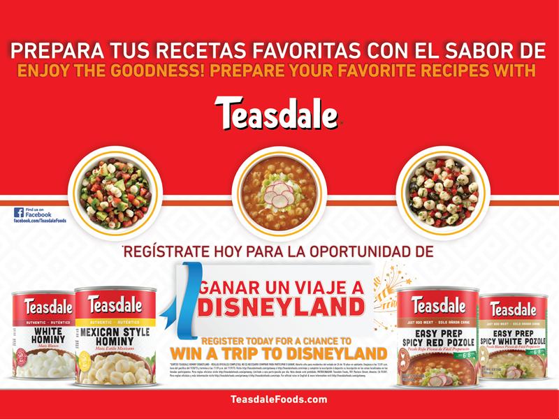 Teasdale Disneyland Sweepstateks
